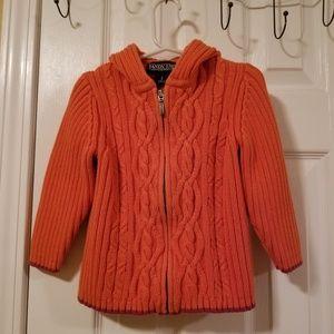 Lands' End Toddler Girl's Sweater Hooded Jacket